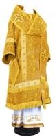 Архиерейское облачение из шёлка Ш3 (жёлтый-бордо/золото)