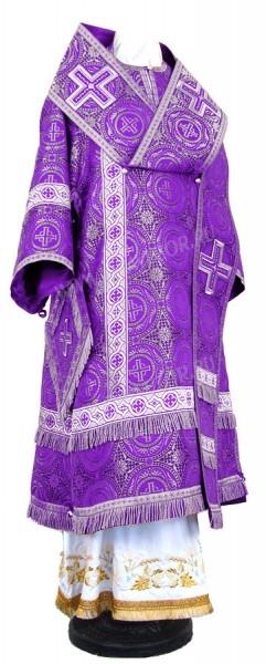 Архиерейское облачение из шёлка Ш3 (фиолетовый/серебро)