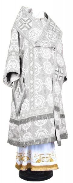 Архиерейское облачение из шёлка Ш3 (белый/серебро)