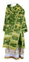 Архиерейское облачение из кит. шёлка ШК (зелёный/золото)