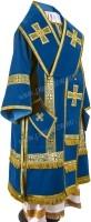Архиерейское облачение из нем. бархата (синий/золото)