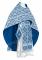 """Русское архиерейское облачение - парча П """"Византия"""" (синее-серебро), обиходная отделка"""