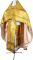"""Русское архиерейское облачение - парча П """"Путивль"""" (жёлтое-золото), обиходные кресты"""