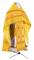 """Русское архиерейское облачение - парча П """"Коринф"""" (жёлтое-золото) с бархатными вставками, обиходная отделка"""
