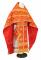 """Русское архиерейское облачение - парча П """"Воскресение"""" (красное-золото), обиходная отделка"""