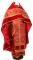 """Русское архиерейское облачение - парча П """"Царский крест"""" (красное-золото) с бархатными вставками, обиходная отделка"""