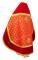 """Русское архиерейское облачение - парча П """"Полтавский крест"""" (красное-золото) вид сзади, соборная отделка"""