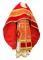 """Русское архиерейское облачение - парча П """"Полтавский крест"""" (красное-золото), соборная отделка"""