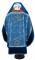 """Русское архиерейское облачение - парча ПГ1 """"Феофания"""" (синее-серебро) с бархатными вставками (вид сзади), обиходная отделка"""
