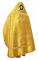 """Русское архиерейское облачение - парча ПГ1 """"Царь-град"""" (жёлтое-золото) вид сзади, обиходная отделка"""