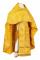 """Русское архиерейское облачение - парча ПГ1 """"Каппадокия"""" (жёлтое-золото), обиходная отделка"""