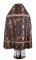 """Русское архиерейское облачение - парча ПГ1 """"Новая корона"""" (фиолетовое-золото) (вид сзади), обиходная отделка"""