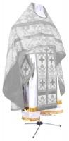Иерейское русское облачение из парчи ПГ1 (белый/серебро)