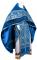 """Русское архиерейское облачение - парча ПГ2 """"Рождество"""" (синее-серебро) с бархатными вставками, обиходная отделка"""