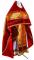 """Русское архиерейское облачение - парча ПГ2 """"Милет"""" (красное-золото) с бархатными вставками, обиходная отделка"""