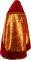 """Русское архиерейское облачение - парча ПГ2 """"Милет"""" (красное-золото) с бархатными вставками (вид сзади), обиходная отделка"""