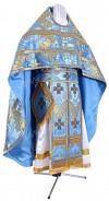 Иерейское русское облачение из парчи ПГ3 (синий/золото)