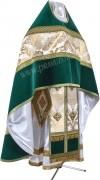 Иерейское русское облачение из парчи ПГ3 (белый/золото)