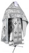 Иерейское русское облачение из парчи ПГ3 (белый/серебро)