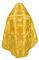 Русское архиерейское облачение - парча ПГ6 (жёлтое-золото) вариант 3 вид сзади, соборная отделка