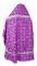 """Русское архиерейское облачение - шёлк Ш2 """"Любава"""" (фиолетовое-серебро) вид сзади, обыденная отделка"""
