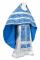 """Русское архиерейское облачение - шёлк Ш3 """"Алания"""" (синее-серебро), обыденная отделка"""