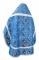 """Русское архиерейское облачение - шёлк Ш3 """"Алания"""" (синее-серебро) вид сзади, обыденная отделка"""