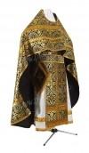 Иерейское русское облачение из шёлка Ш3 (чёрный/золото)