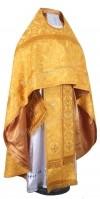 Иерейское русское облачение из шёлка Ш3 (жёлтый-бордо/золото)