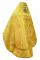 """Русское архиерейское облачение - шёлк Ш3 """"Новая корона"""" (жёлтое-золото) вид сзади, обиходная отделка"""