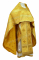 """Русское архиерейское облачение - шёлк Ш3 """"Новая корона"""" (жёлтое-золото), обиходная отделка"""