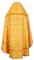 """Русское архиерейское облачение - шёлк Ш3 """"Царский крест"""" (жёлтое-золото) вид сзади, обиходная отделка"""