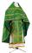 """Русское архиерейское облачение - шёлк Ш3 """"Иерусалимский крест"""" (зелёное-золото), обиходная отделка"""