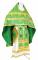 """Русское архиерейское облачение - шёлк Ш3 """"Растительный крест"""" (зелёное-золото), обиходная отделка"""