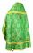 """Русское архиерейское облачение - шёлк Ш3 """"Серафимы"""" (зелёное-золото) вид сзади, обиходная отделка"""