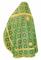 """Русское архиерейское облачение - шёлк Ш3 """"Царский"""" (зелёное-золото) вид сзади, обиходная отделка"""