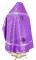 """Русское архиерейское облачение - шёлк Ш3 """"Острожский"""" (фиолетовое-серебро) вид сзади, обыденная отделка"""