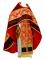 """Русское архиерейское облачение - шёлк Ш3 """"Новая корона"""" (красное-золото) с бархатными вставками, обиходная отделка"""