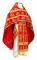 """Русское архиерейское облачение - шёлк Ш3 """"Абакан"""" (красное-золото), обиходная отделка"""