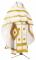 """Русское архиерейское облачение - шёлк Ш3 """"Абакан"""" (белое-золото), обиходные кресты"""