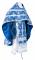 """Русское архиерейское облачение - шёлк Ш4 """"Псков"""" (синее-серебро), обыденная отделка"""