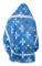 """Русское архиерейское облачение - шёлк Ш4 """"Подольск"""" (синее-серебро) вид сзади, обыденная отделка"""