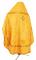 """Русское архиерейское облачение - шёлк Ш4 """"Дон"""" (жёлтое-золото) вид сзади, обиходные кресты"""