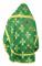 """Русское архиерейское облачение - шёлк Ш4 """"Подольск"""" (зелёное-золото) вид сзади, обыденная отделка"""