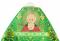 """Русское архиерейское облачение - шёлк Ш4 """"Престол"""" (зелёное-золото) вид сзади, деталь иконы, обиходная отделка"""