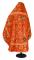 """Русское архиерейское облачение - шёлк Ш4 """"Феврония"""" (красное-золото) вид сзади, обиходная отделка"""