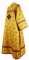"""Дьяконское облачение - парча П """"Иерусалимский крест"""" (жёлтое-золото) вид сзади, обиходная отделка"""