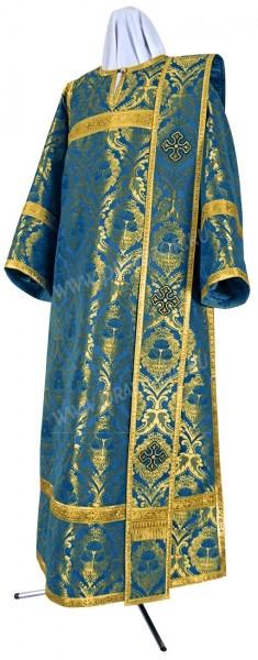 Дьяконское облачение из парчи ПГ4 (синий/золото)