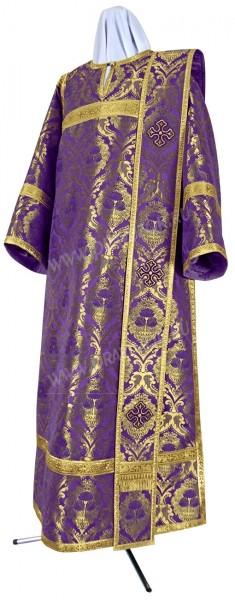 Дьяконское облачение из парчи ПГ5 (фиолетовый/золото)