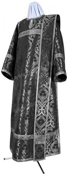 Дьяконское облачение из парчи ПГ5 (чёрный/серебро)